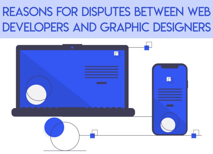 dispute between web designer and graphic designer