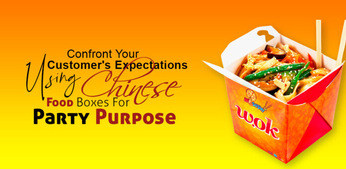 chinese food boxes for party purpose