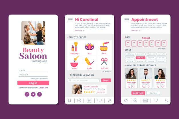 appointment app for salon