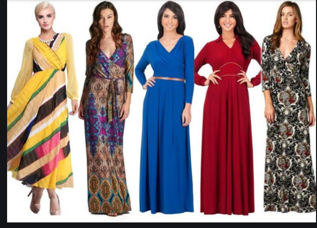 How to choose and wear a long dress?